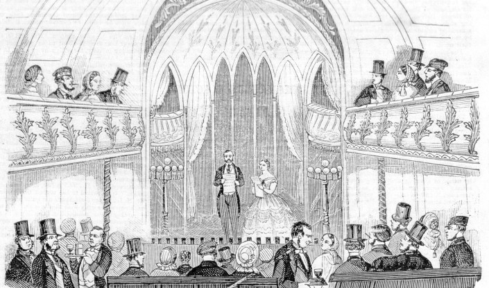how has the design of theatre buildings changed over time