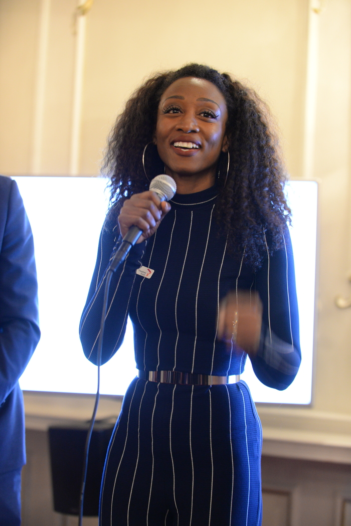 Beverley Knight speaking at fundraiser