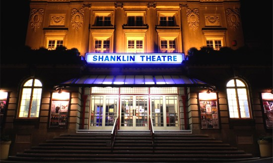 Shanklin Theatre at night