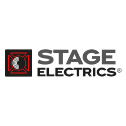 Stage electrics logo colour grey square