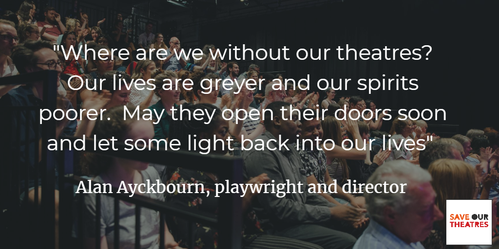 Crowdfunder Alan Ayckbourn quote