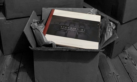 Dark Theatres Project book on box